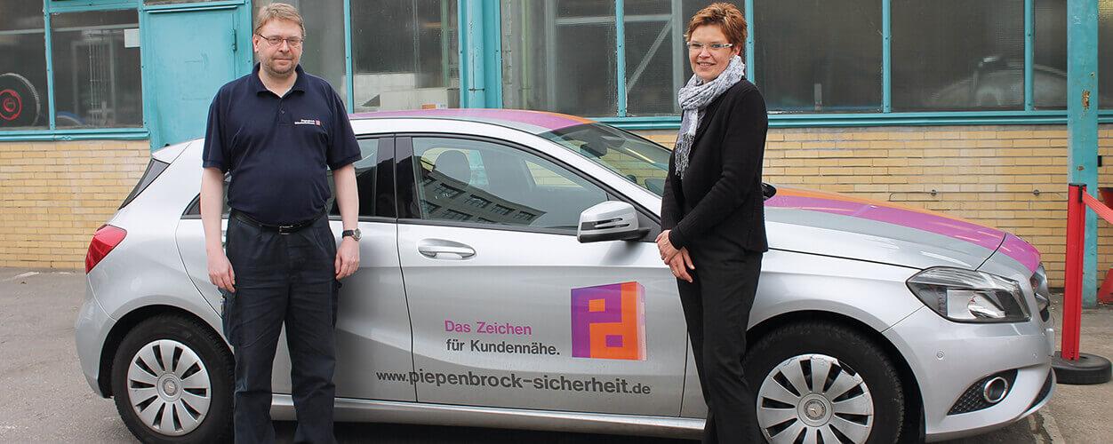 Maik Richter und Nancy Moser betreuen die Kunden der Piepenbrock-NSL
