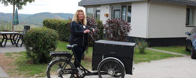 Mit Lastenrädern legen Jelka Benz und ihr Team täglich bis zu 10 Kilometer zurück.