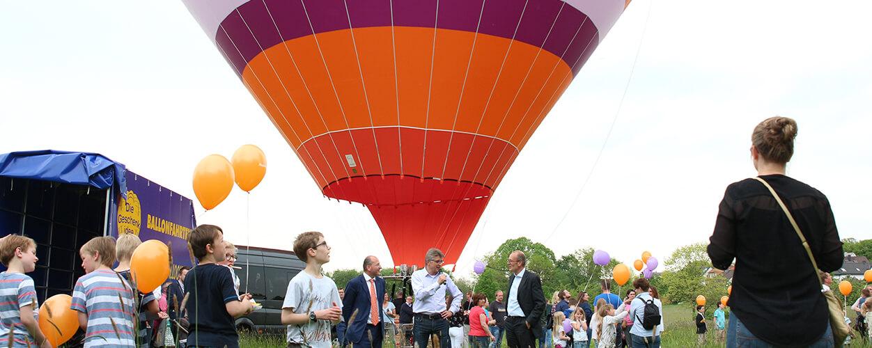 Piepenbrock Heißluftballon hebt ab