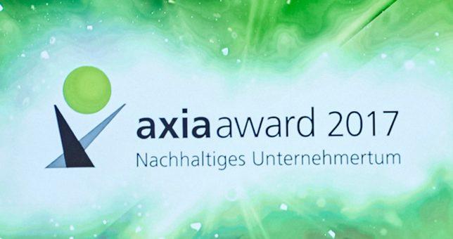 Der Axia Award prämierte nachhaltige Unternehmensführung