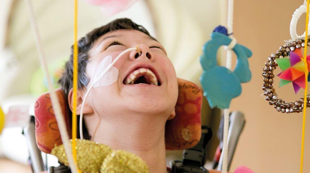 Ein Patient im Lebenszentrum.
