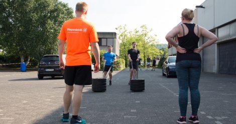 Beim CrossFit entwickelten die Mitarbeiter sportlichen Ehrgeiz.