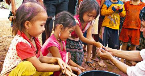 Kinder aus Laos und Vietnam